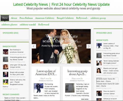 Website for celebrity news